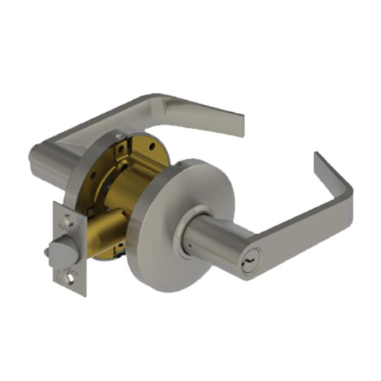 Hager Companies 3553 Entry Lockset Withnell Lever Bright Chrome