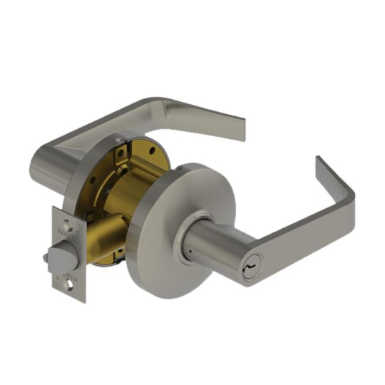 Hager Companies 3570 Classic Keyway Classroom Lockset Withnell Lever Satin Chrome