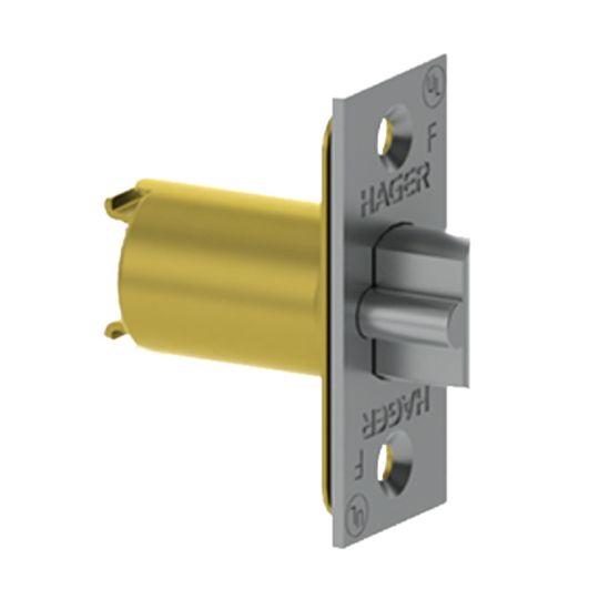 "Hager Companies 1"" x 2-1/4"" x 2-3/8"" 3950 Backset Dead Latch with Square Corners for 3500 Series Satin Chrome"