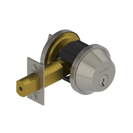 Hager Companies 3215 Double Cylinder Deadlock Satin Stainless Steel