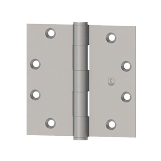"""Hager Companies 4-1/2"""" x 4-1/2"""" 1279 Five Knuckle Plain Bearing Standard Weight Full Mortise Hinge Polished Chrome"""