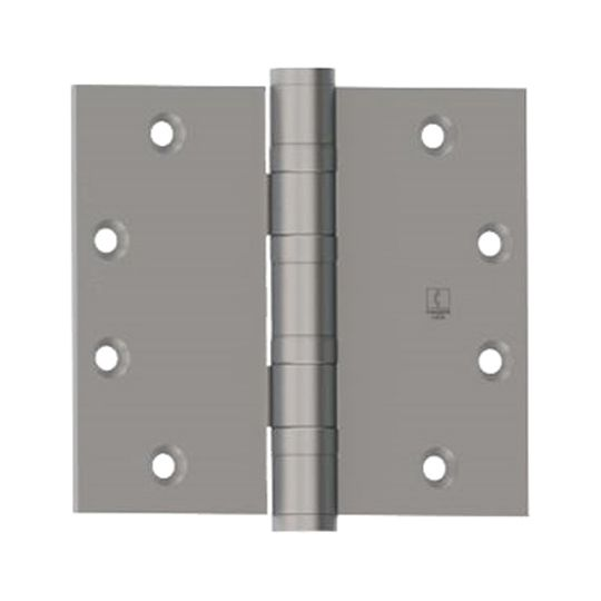 """Hager Companies 4-1/2"""" x 5"""" BB1168 Five Knuckle Ball Bearing Heavy Weight Full Mortise Hinge with Non-Removable Pin Satin Chrome Plated"""