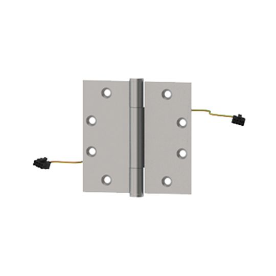 """Hager Companies 4-1/2"""" x 4-1/2"""" BB1279 ETW4 Five Knuckle Ball Bearing Standard Weight Full Mortise Hinge Satin Chrome Plated"""