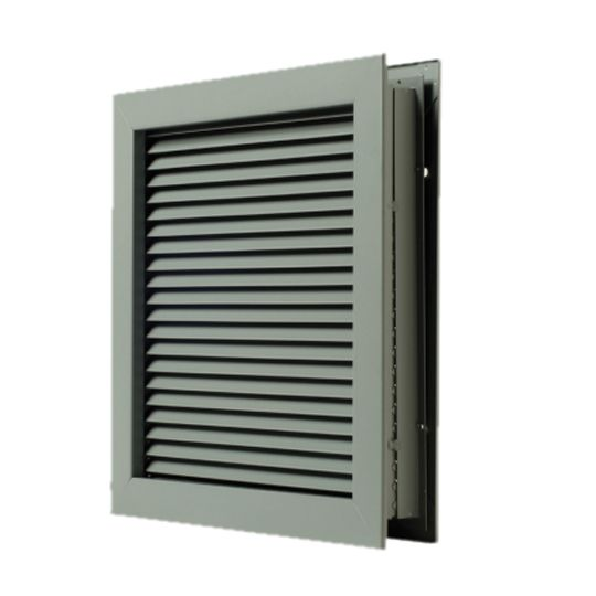 "National Guard Products 12"" x 12"" L-700-RX Self-Attaching No Vision Door Louver California Bronze"