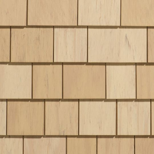 "CertainTeed Vinyl Building Products Cedar Impressions® Individual 5"" Sawmill Polymer Shingle Siding - 33.33 Sq. Ft. Carton Cedar Blend - Light"