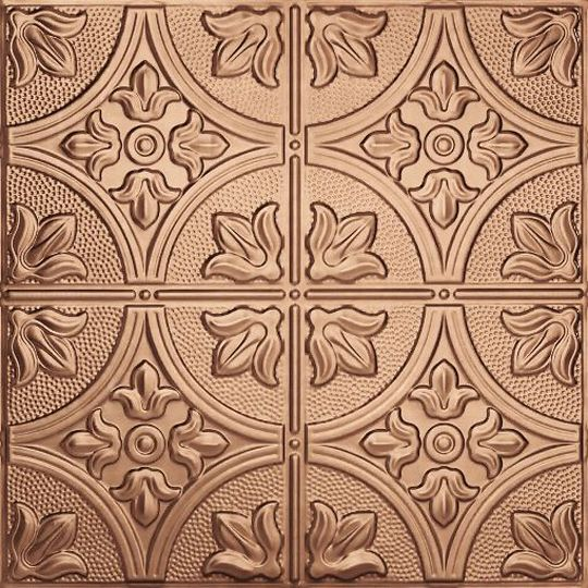 """Armstrong 2' x 2' MetalWorks™ Tin 56004 B1 Unperforated Ceiling Panels with 15/16"""" Square Lay-In Edge Copper"""