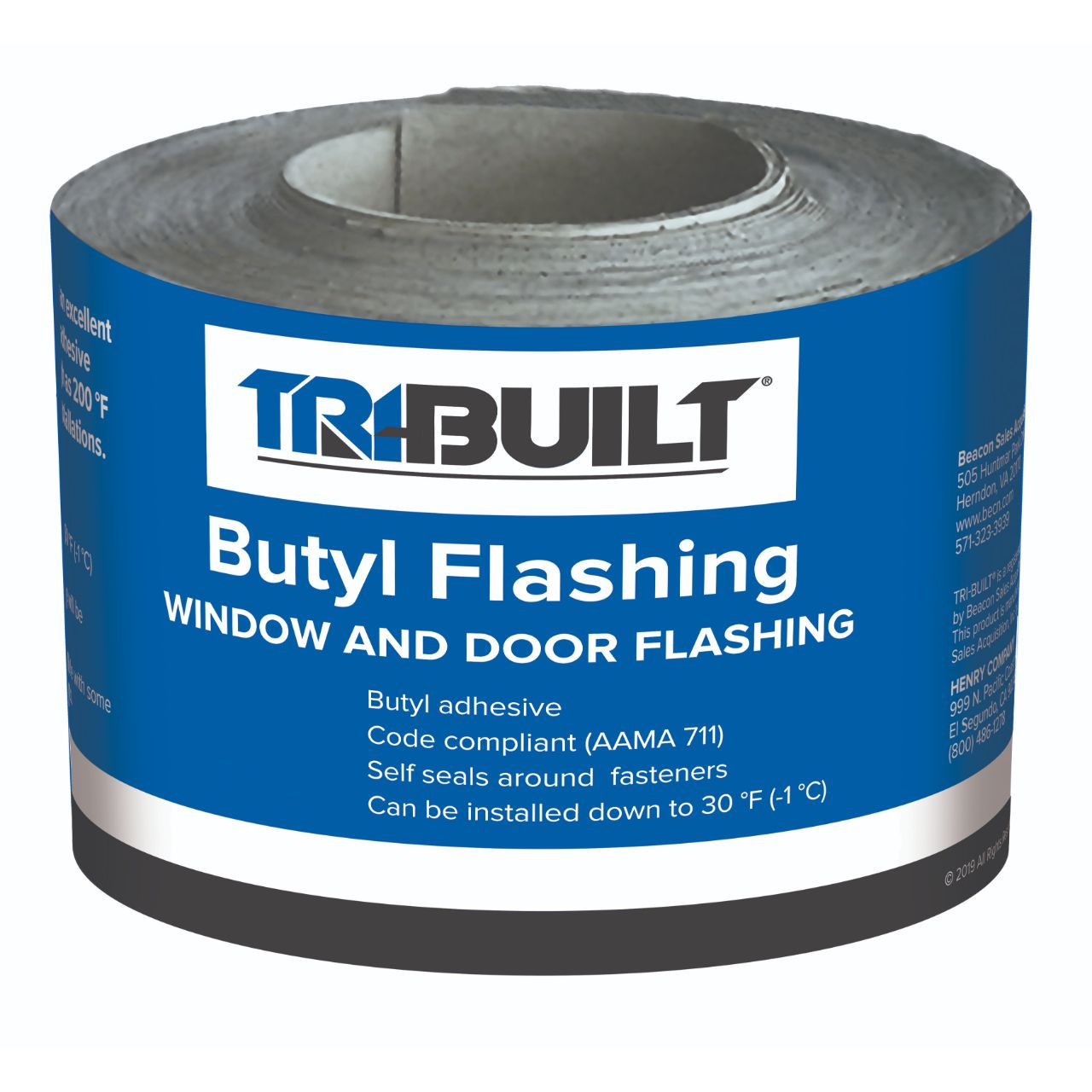 "TRI-BUILT 4"" x 75' Butyl Flashing Tape"