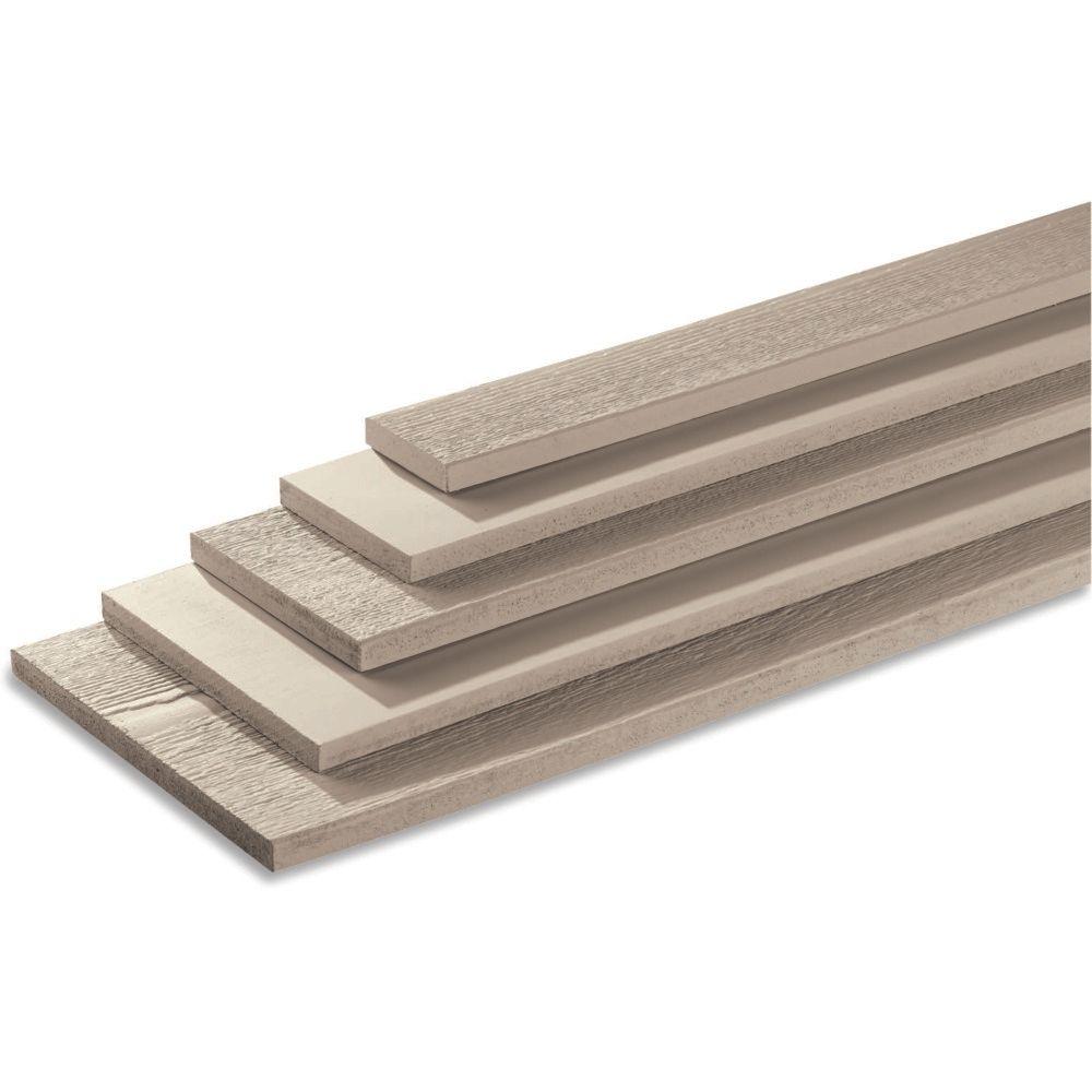 "LP SmartSide 5/4"" 5-1/2"" x 16' 540 Series Cedar Texture Primed Trim Engineered Wood Siding"