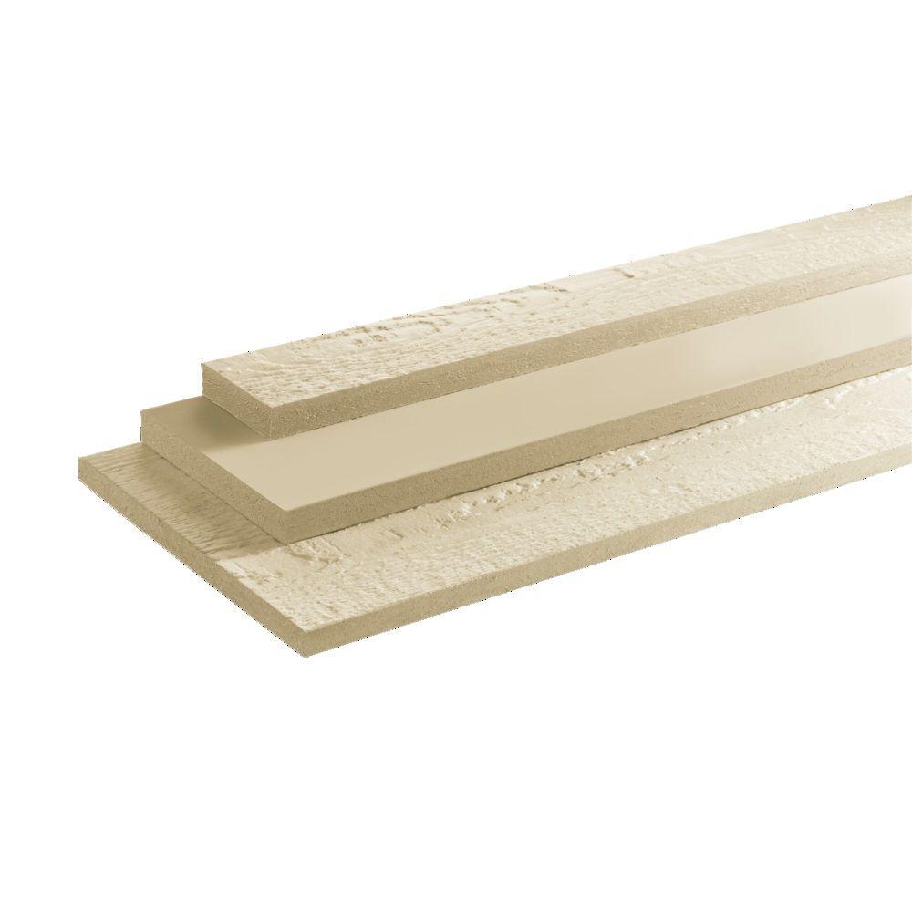 "LP SmartSide 4/4"" 8"" x 16' 440 Series Cedar Texture Primed Ploughed Fascia Engineered Wood Siding"