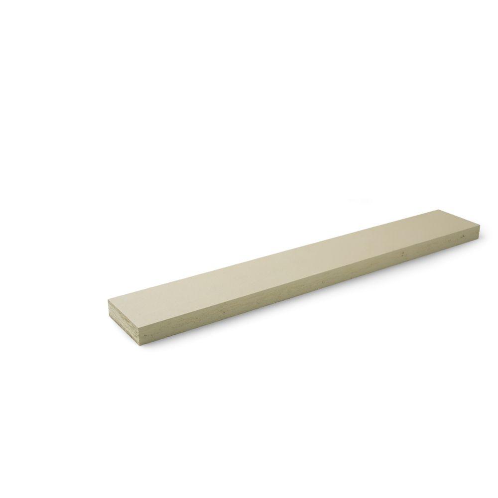 "LP SmartSide 4/4"" 9-1/4"" x 16' 440 Series Smooth Finish Trim Engineered Wood Siding Primed"
