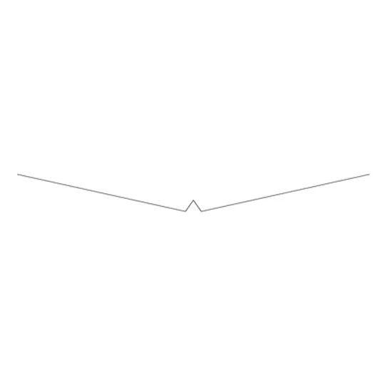 "TRI-BUILT 29 Gauge 20"" W Valley with Hem Black"
