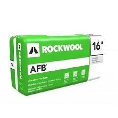 "Rockwool 4"" x 16"" x 4' AFB® Batt Insulation - 64 Sq. Ft. Bag"