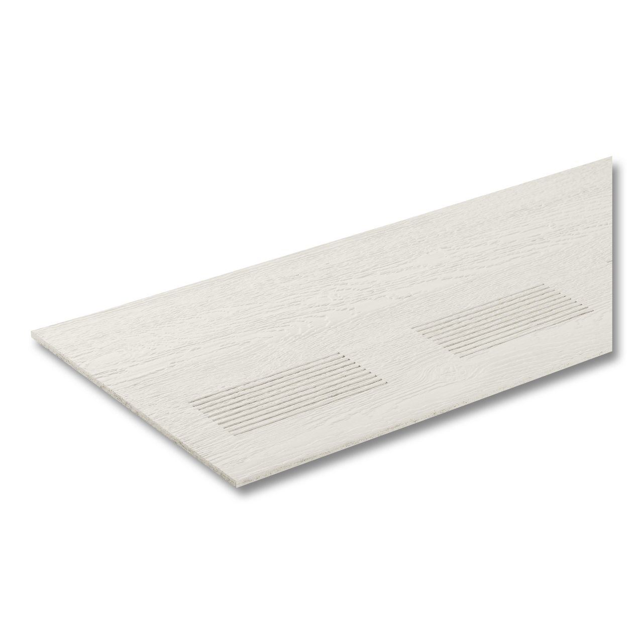 """LP SmartSide ExpertFinish 3/8"""" 16"""" x 16' 38 Series Cedar Texture Vented Soffit Engineered Wood Siding Snowscape White"""
