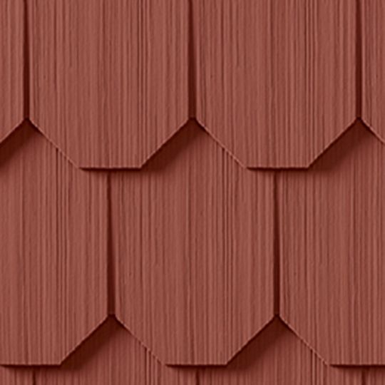 "CertainTeed Vinyl Building Products Cedar Impressions® Single 6-1/3"" Polymer Octagon Edge Shingle Siding Colonial White"
