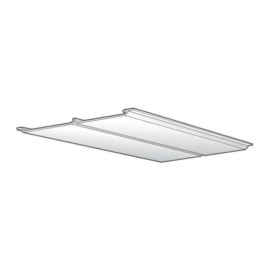 "Quality Edge Double 5"" Porch Ceiling Woodgrain Steel Panel Karri"