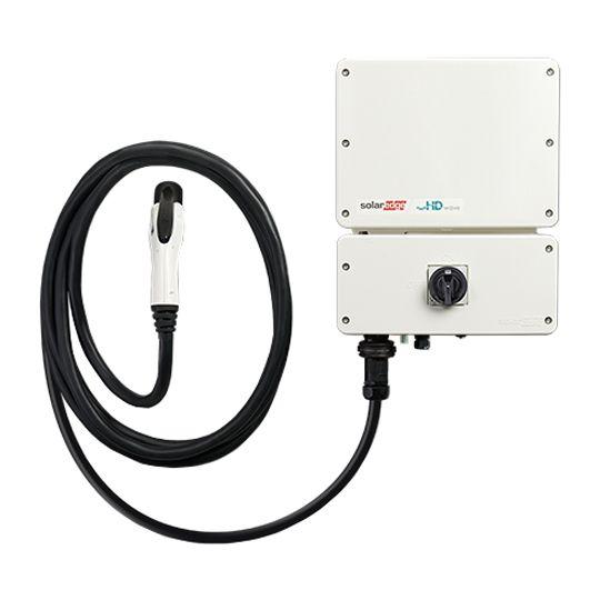 SolarEdge Technologies 3.8 Kilowatt EV Charging Single Phase Inverter with RGM, SetApp Enabled