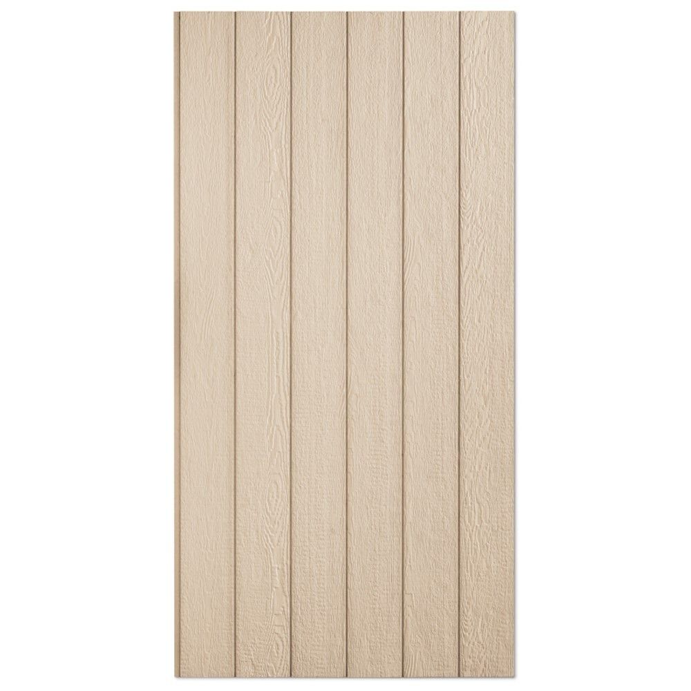 """LP SmartSide 3/8"""" 4' x 8' 38 Series Cedar Texture Primed Panel 8"""" O.C. Engineered Wood Siding"""