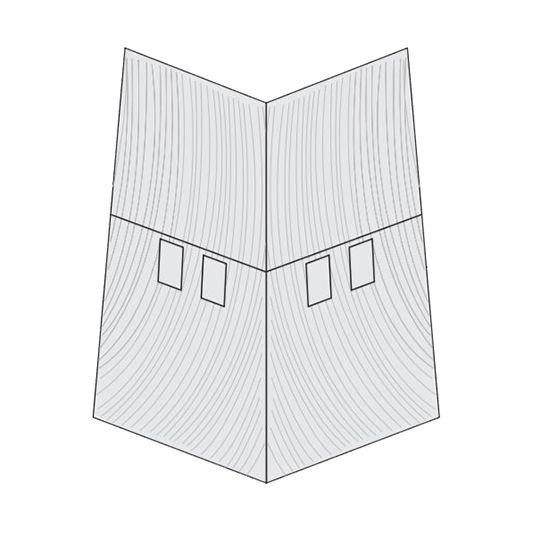 "CertainTeed Vinyl Building Products Cedar Impressions® Individual 5"" Corner Driftwood Blend - Light"